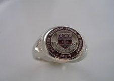 Small round 10karat white gold.